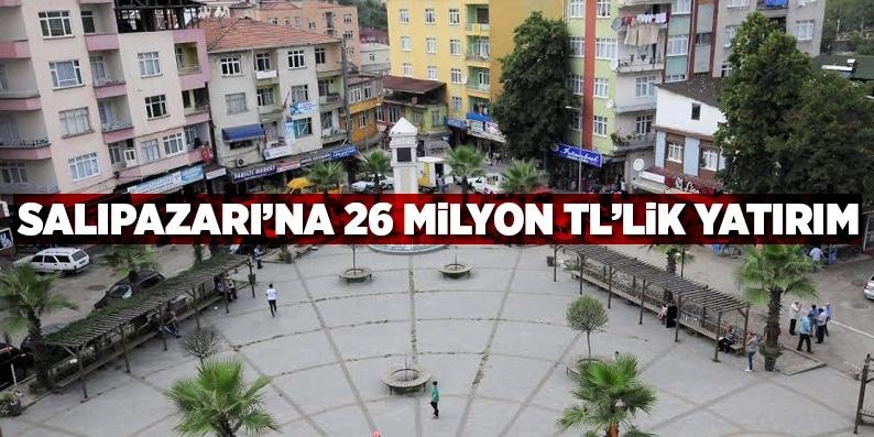 Samsun Salıpazarı'na 26 milyon tl'lik yatırım