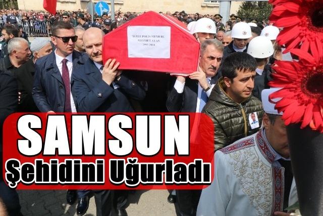 Samsun Şehidi Mehmet Ayan Son Yolculuğuna Uğurlandı