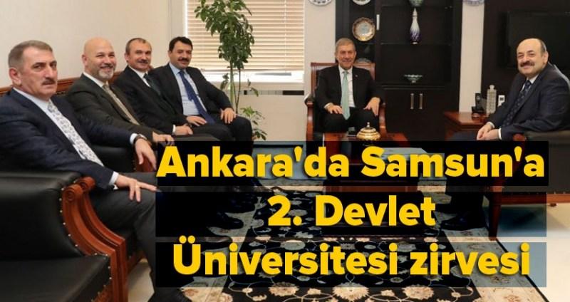 Samsun'a 2. Devlet Üniversitesi yapımı hız kazandı