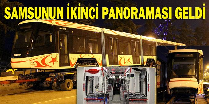 Samsun'a gelen yerli tramvaylar raya indirildi