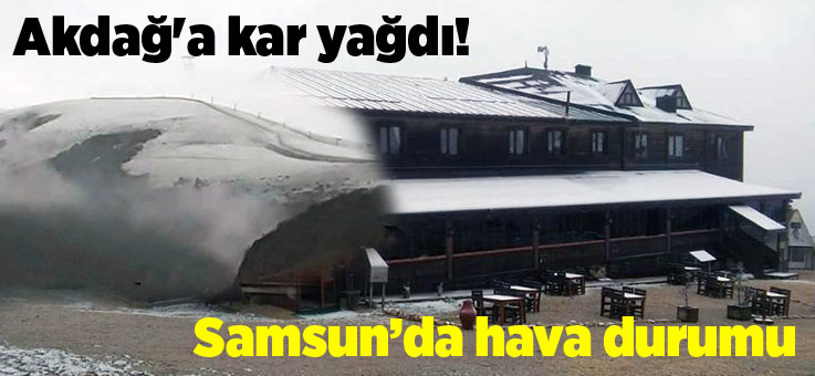 Samsun'a kar yağışı başladı, yarın hava nasıl olacak?