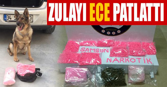 Samsun'da 9 bin 400 uyuşturucu hap ele geçirildi