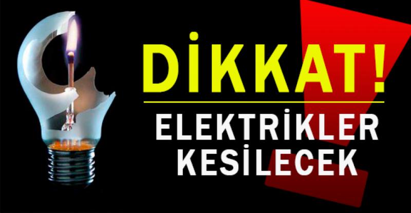 Samsun'da elektrik kesintisi 8.02.2016