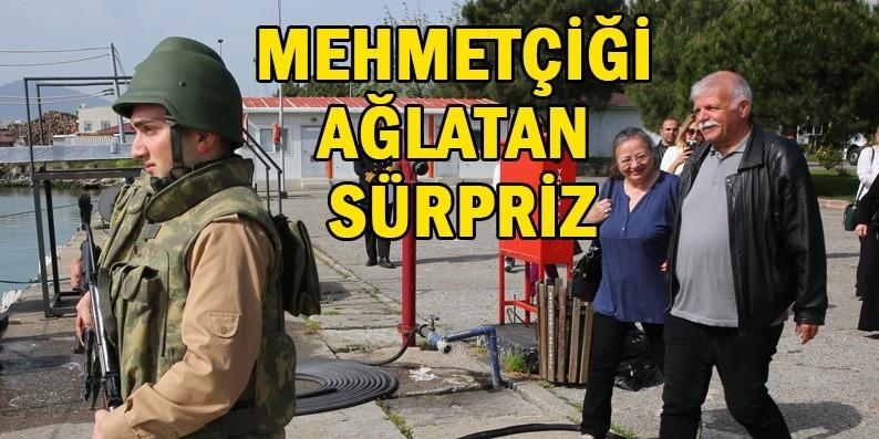 Samsun'da görev yapan mehmetçiğe anne sürprizi