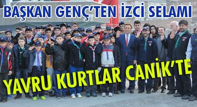 Samsun'da kamp kuran İzciler Canik Belediyesi'nde