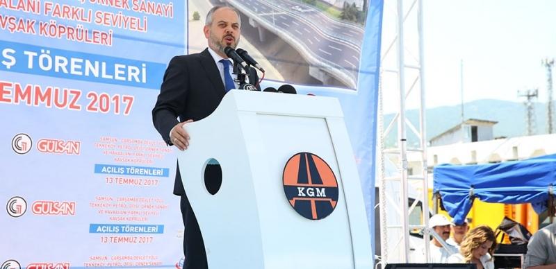 Samsun'da Kavşak Köprüleri Açılışı