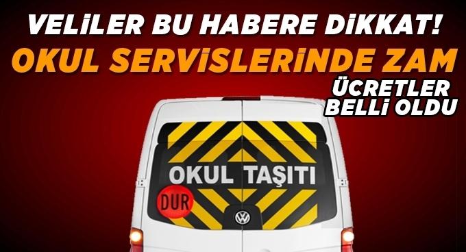 Samsun'da Okul servis ücretleri belli oldu, Servis ücretleri ne kadar ?