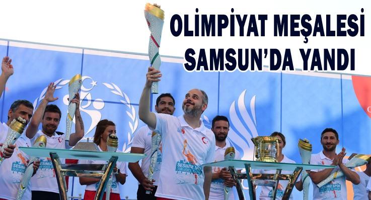 Samsun'da olimpiyat coşkusu başladı