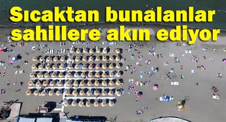 Samsun'da sahiller doldu taştı