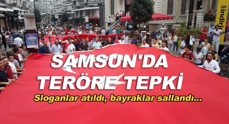 Samsun'da teröre tepki yürüyüşü