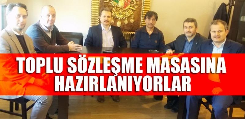 Samsun'da toplu sözleşme masası için ön çalışma yaptılar