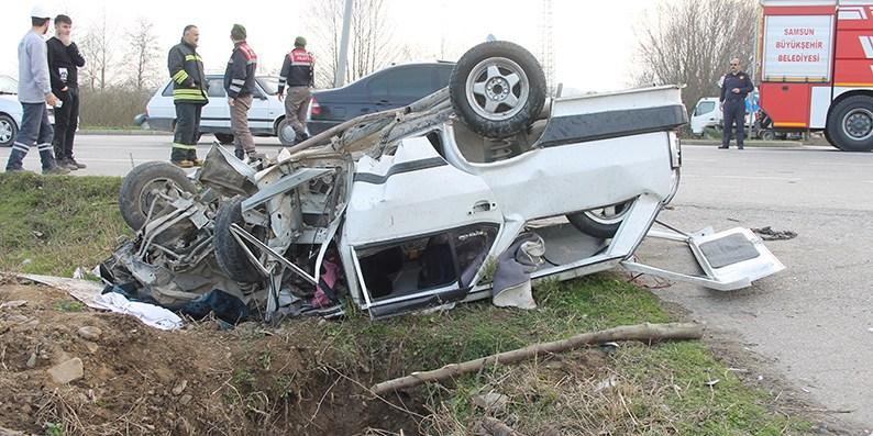 Samsun'da trafik kazası: 1 ölü, 3 yaralı