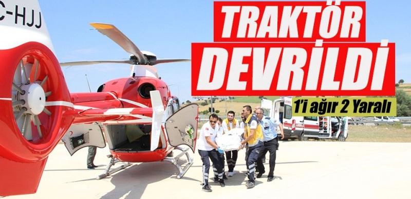 Samsun'da Traktör Uçuruma Yuvarlandı: 1'İ Ağır 2 Yaralı