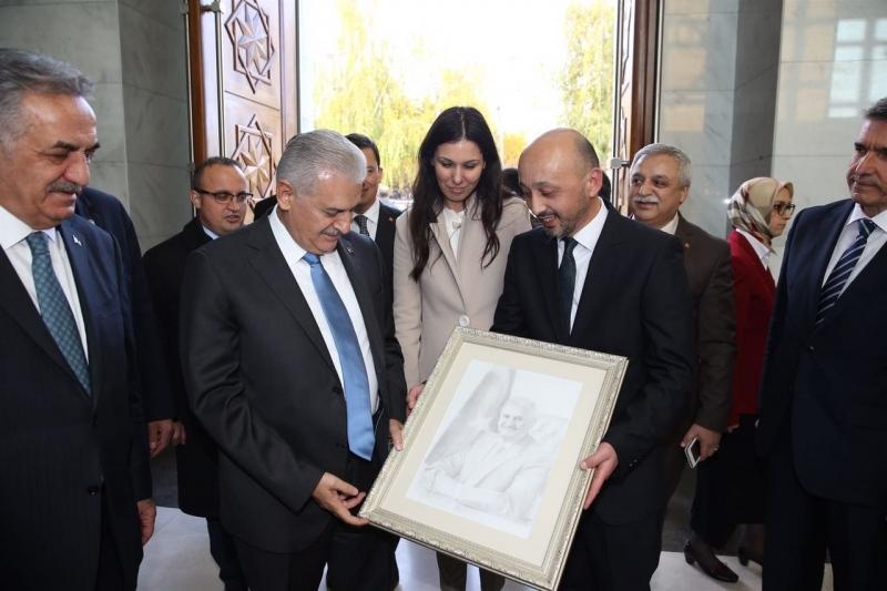 Samsunlu Vaiz'den Başbakana karakalem tablo