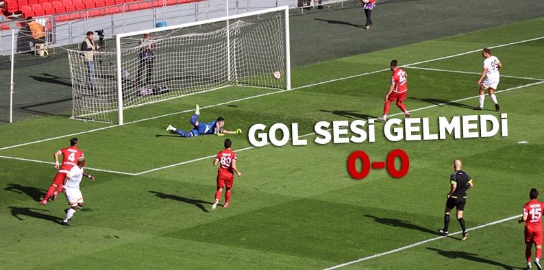 Samsunspor Adanaspor maç sonucu:0-0