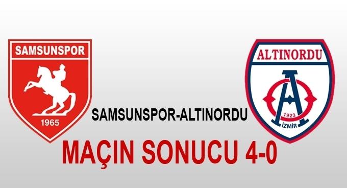 Samsunspor Altınordu maçı sonucu 4-0 maç sonucu kaç kaç?