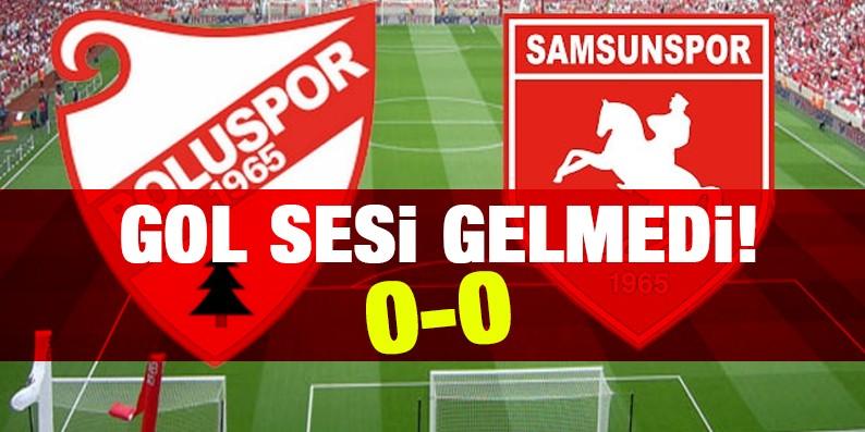 Samsunspor Boluspor maçında gol sesi gelmedi 0-0
