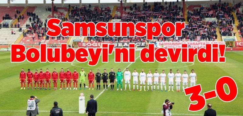 Samsunspor Boluspor maç sonucu : 3-0
