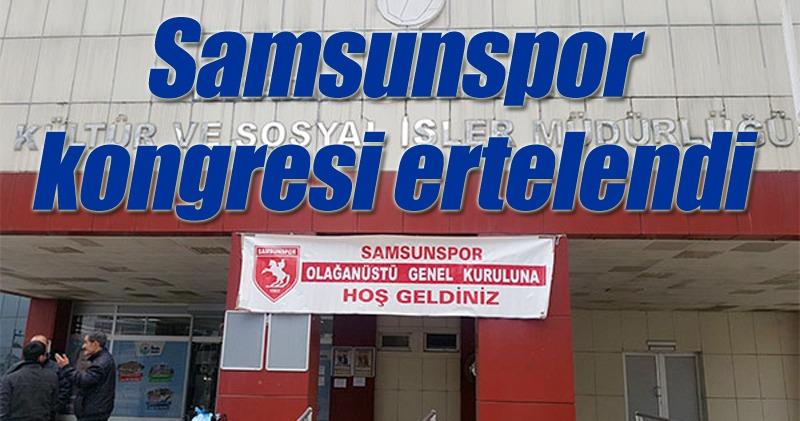 Samsunspor'da son dakika gelişmesi!