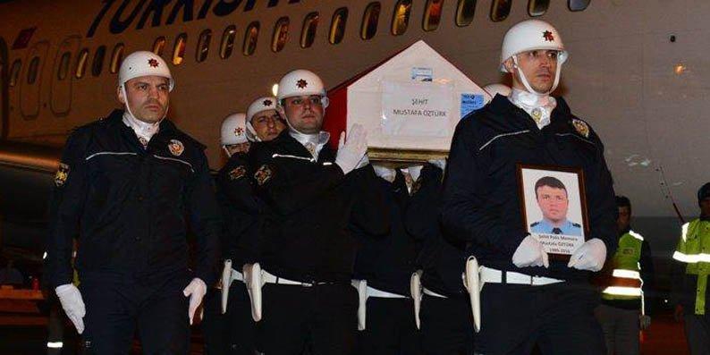 Şehit Mustafa Öztürk'ün naaşı Samsun'a geldi