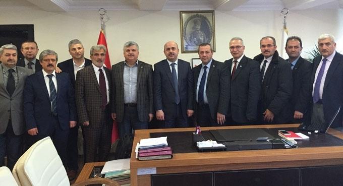 Sendika başkanlarından sağlık kurumlarına ziyaret