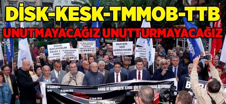 Sendikalardan ortak 'Ankara Katliamı' açıklaması