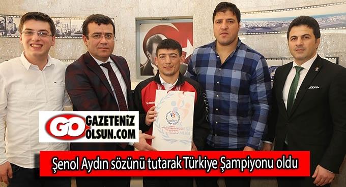 Şenol Aydın sözünü tutarak Türkiye Şampiyonu oldu
