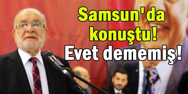 SP Genel Başkanı Karamollaoğlu 16 Nisan'da 'evet' dememiş!