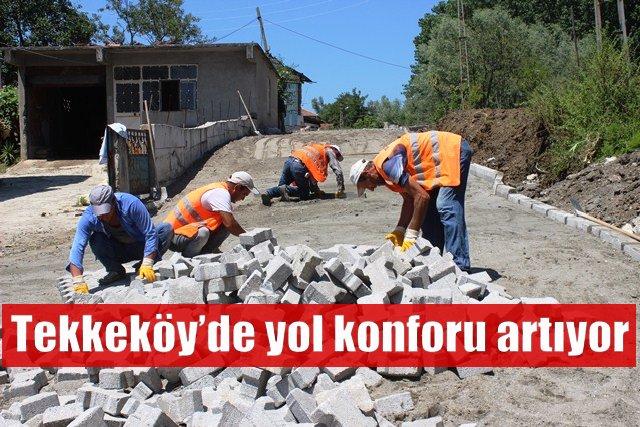 Tekkeköy Belediyesi yol çalışmalarında devrim yaratacak hizmetlere imza attı
