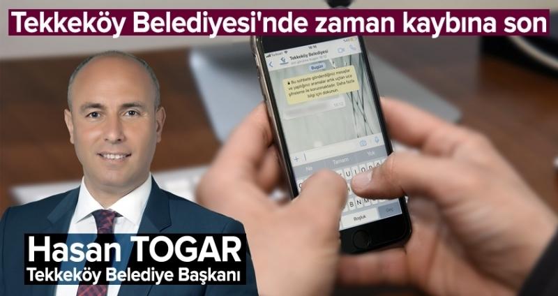 Tekkeköy Belediyesi WhatsApp hattı ile hızlı ve etkin hizmet