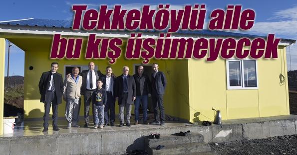 Tekkeköy Belediyesi bir aileyi daha sıcak yuvaya kavuşturdu