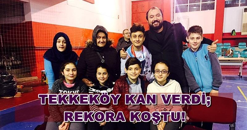 Tekkeköy'de rekor kan bagışı yapıldı