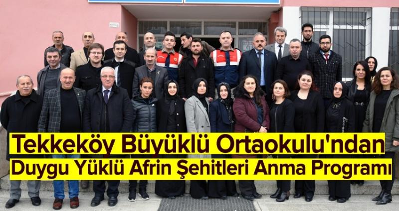 Tekkeköy'den Afrin'e Ay Yıldızlı mesaj