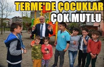 Terme'nin mutlu çocukları için 10 yeni park daha