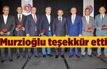 Samsun TSO'dan meclis üyelerine plaket