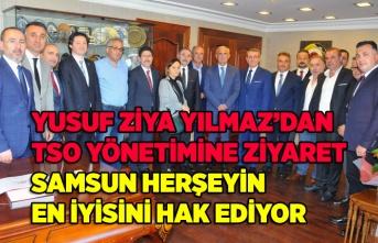 Yusuf Ziya Yılmaz'dan TSO yönetimine ziyaret