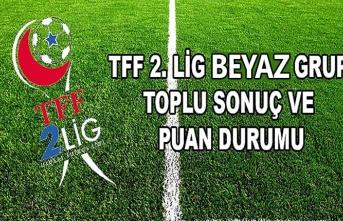 TFF 2. Lig Beyaz Grup puan durumu ve maç sonuçları