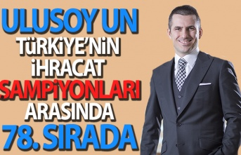 Ulusoy Un Türkiye Şampiyonları Arasında Yerini Aldı