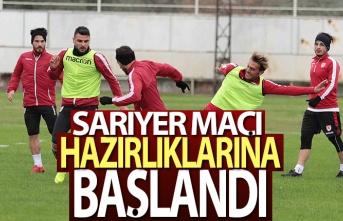 Yılport Samsunspor, Sarıyer maçı hazırlıklarına başladı