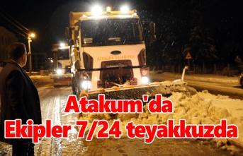 Atakum'da kış boyunca 'kar' nöbeti