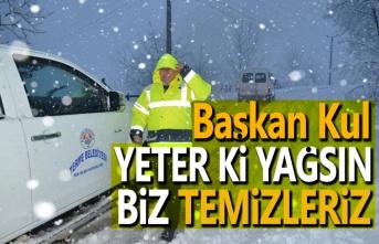 Terme belediyesi kar yağışı için teyakkuzda