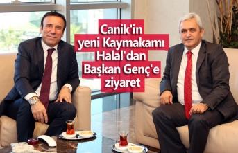 Canik'in yeni Kaymakamı Halal'dan Başkan Genç'e ziyaret