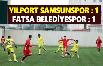Samsunspor Fatsa Belediyespor ile hazırlık maçı oynadı
