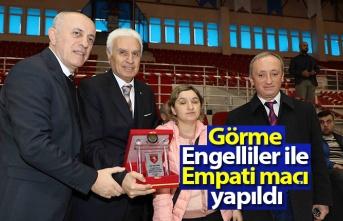 Yılport Samsunspor  görme engelliler ile empati maçı yaptı