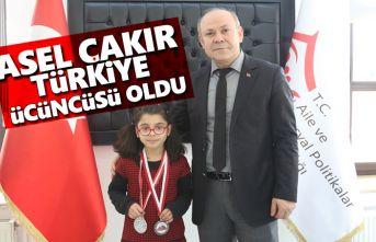 Asel Çakır, Türkiye Üçüncüsü oldu