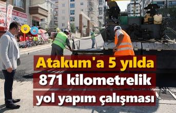 Atakum'da 5 yılda 871 km'lik yol çalışması yapıldı