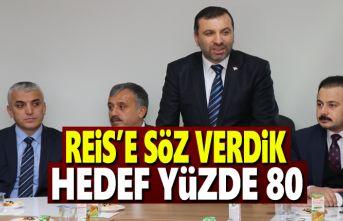 Başkan Sarıcaoğlu, Reis'e Söz Verdik Hedef Yüzde 80