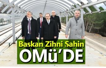 Başkan Zihni Şahin, OMÜ'de