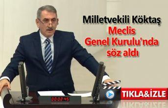 Milletvekili Köktaş Meclis Genel Kurulu'nda söz aldı