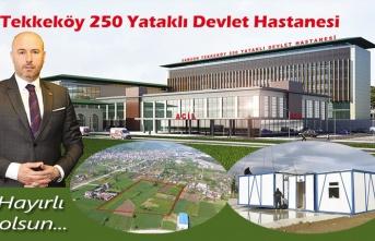 Tekkeköy Devlet Hastanesi'nin Şantiyesi Kuruldu
